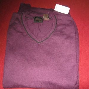 JOS BANK v neck 4% cashmere and 96% cotton sweater